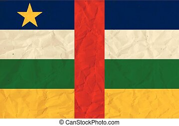 Central African Republic paper flag - Vector image of the...