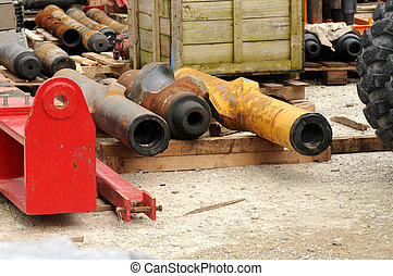 Drilling 094 - Some oil drilling equipment on the ground