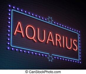 Aquarius sign concept. - Illustration depicting an...