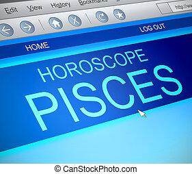 Piscis, horóscopo, concept.,