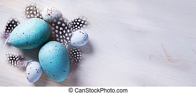 art Festive decoration with Easter eggs