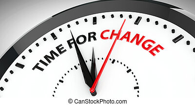 Clock - Time for change 2 - Clock with text - Time for...