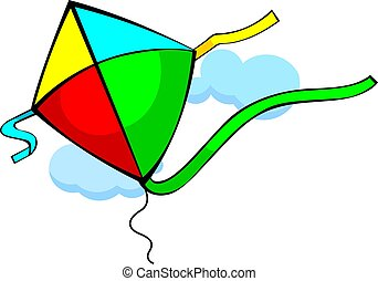 Kite	 - Illustration of colourful kites