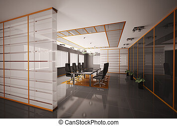 Boardroom interior 3d render - Modern boardroom interior 3d...