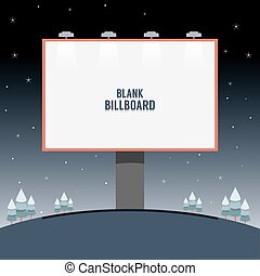 Big Blank Advertising Billboard.