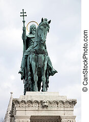 Statue of St Stephen - Statue of Saint Stephen in Budapest