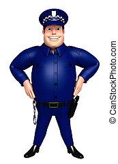 3D Rendered illustration of Police