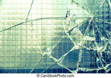 Broken window - A broken industrial window