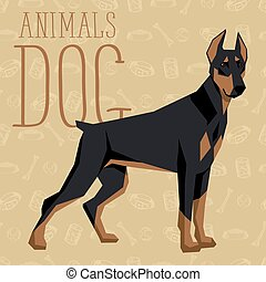 Dogs Collection - Geometric dogs collection with seamless...