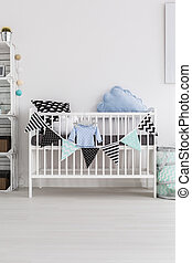 Let's take a nap - Shot of a crib in a modern baby room