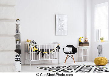 Baby room full of warmth and style - Shot of a modern room...