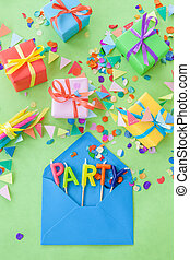 Colorful little presents - Colorful little gift boxes and...