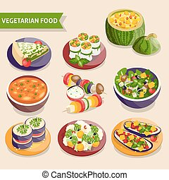Vegetarian dishes set