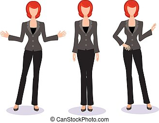 businesswoman - business woman in a business suit