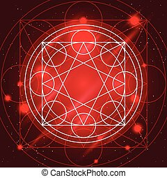 Magic Geometry Sign - Magic geometry sign. Alchemy mystical...