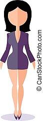 stiker woman - Sticker woman in a business suit