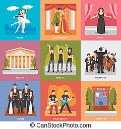 teatro, Compositions, 3x3, diseño, Concept, ,