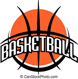 basketball team design with ball for school, college or...