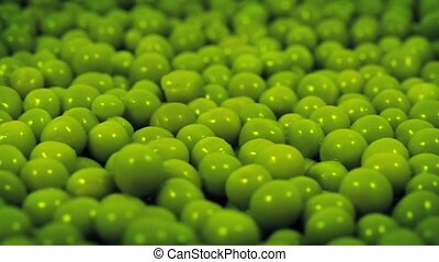 Green Peas Rotating Closeup - Macro shot of green peas...