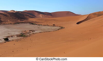 Namibia Sossusvlei pan dunes - Sossusvlei pan of dunes and...