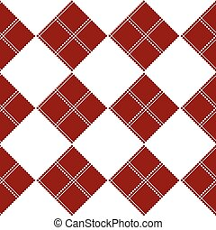Diamond Chessboard Red Background Vector Illustration
