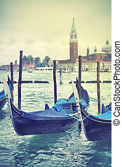 View of Venice, Italy Retro style filtred image