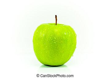 Fresh apple - Fresh gree apple isolated on white background