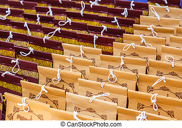 Abstract paper bag background