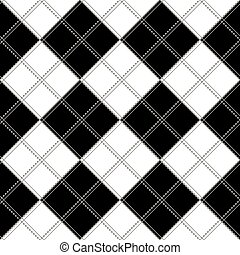 Black White Chess Board Background