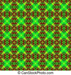 Abstract fluorescent green geometrical texture or background...
