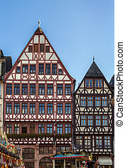 Romerberg square, Frankfurt, Germany - historical houses on...