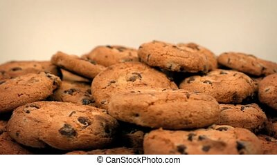 Chocolate Chip Cookies Rotating - Delicious cookie biscuits...