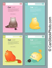 Animal banner with Cat story for web design 2