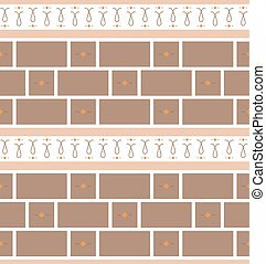 Refined modern seamless geometric wallpaper pattern. Brown...
