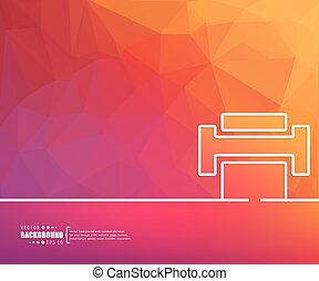 Concept vector banner background - Abstract Creative concept...