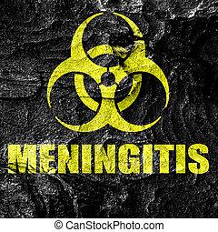 virus, concepto,  meningitis, Plano de fondo