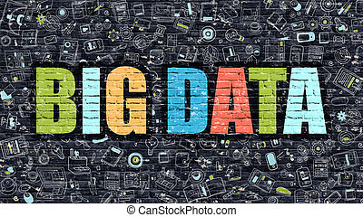 Big Data Concept with Doodle Design Icons - Big Data...