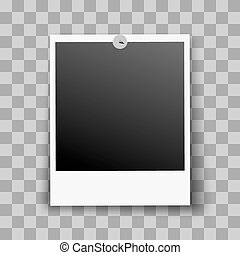 Photo Frame Fixed and Metal Pin with Transparent Shadow...