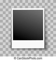 Photo Frame - Retro Photo Frame with Transparent Shadow...