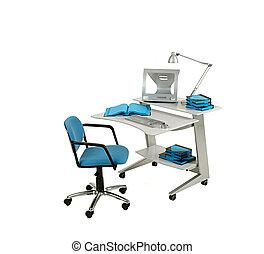椅子, 電腦, 家具