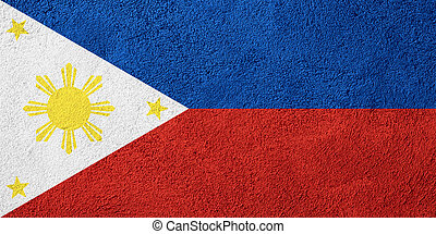 flag of Philippines or banner on rough pattern background