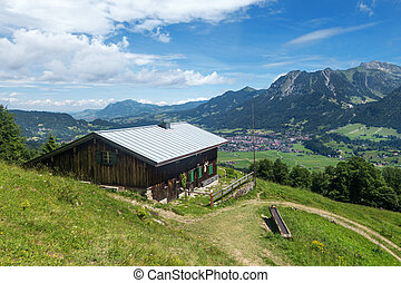 Mountain hut above Oberstdorf - Mountain hut in the Allgau...