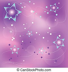 Violet background with stars