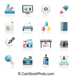 Print industry icons - Print industry and graphic design...