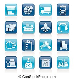 cargo and transportation icons - Logistic, cargo and...