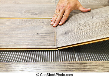 Laying laminate flooring in a flat