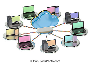 networking computing concept with cloud computing