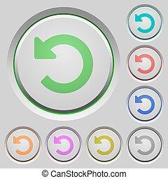 Undo changes push buttons - Set of color undo changes sunk...