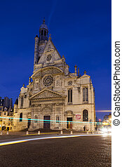 Church of Saint Etienne du Mont, Paris, Ile-de-france,...