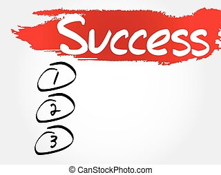SUCCESS blank list, fitness, sport, health concept
